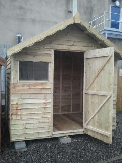 Pressure Treated Rustic 6ft x 8ft Chalet