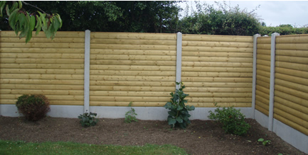 Barrel Board Fence Panels